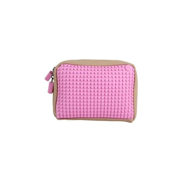 Pixelová taštička, beige/pink