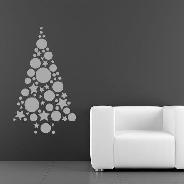 Samolepka Silver Christmas Tree Balls