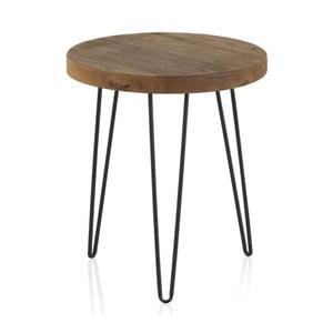 Odkládací stolek s deskou z jilmového dřeva Geese Camile, ⌀46cm