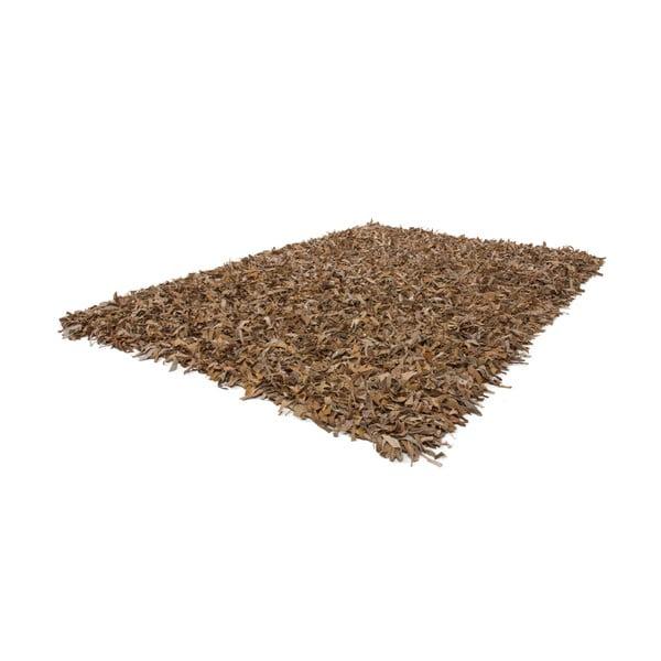Kožený koberec Rodeo 120x170 cm, béžový