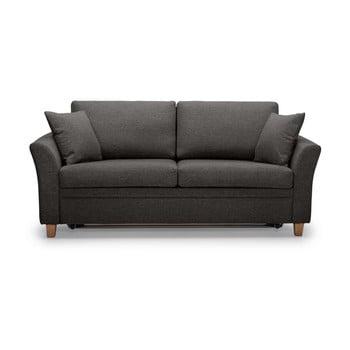 Canapea cu 3 locuri Scandic Sonia, gri antracit imagine