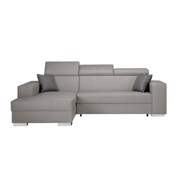 Canapea extensibilă cu șezlong partea stângă Interieur De Famille Paris Tresor, gri - maro
