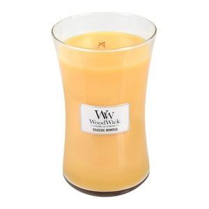 Svíčka s vůní citrusů a šampaňského WoodWick Přímořský koktejl, dobahoření130hodin