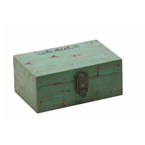 Úložný box Antique Green, 9,5 x 13 x 21