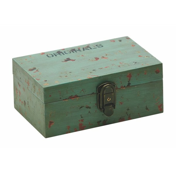 Úložný box Antique Green, 9,5 x 13 x 21
