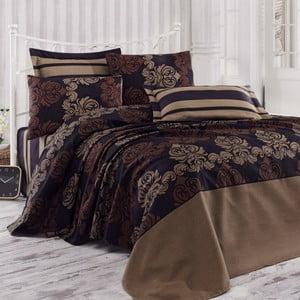 Sada přehozu přes postel, prostěradla a 2 polštářů Double 439, 200x235 cm