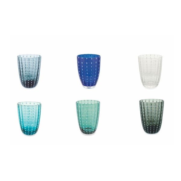 Komplet 6 szklanek w chłodnych odcieniach Villa d´Este Kalahari