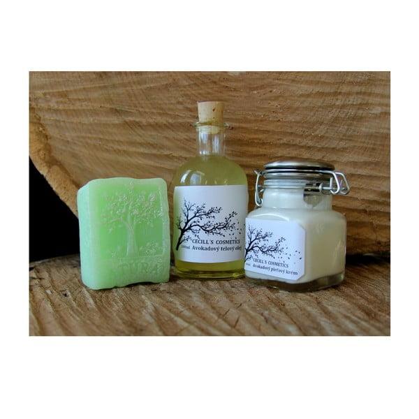 Dárková sada mýdlo, tělový olej a krém, zelený čaj