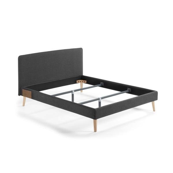 Ciemnoszare łóżko 2-osobowe La Forma Lydia, 200x160cm