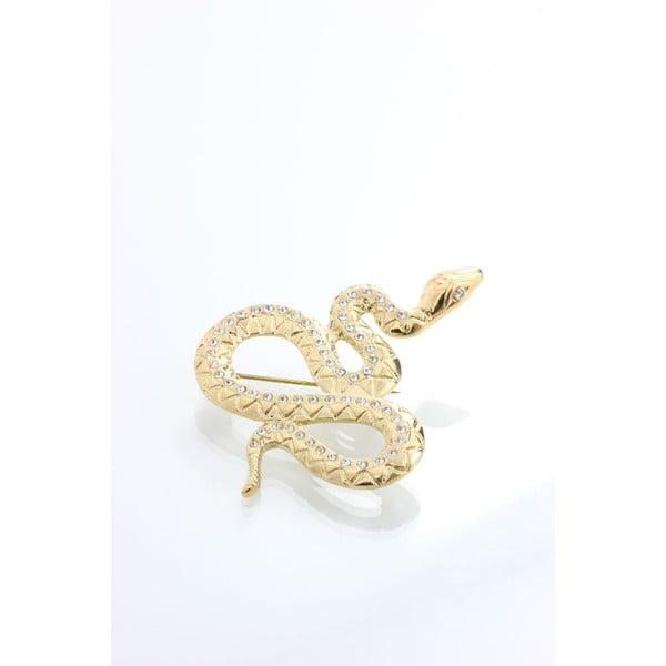 Brož Yasmine Snake Golden
