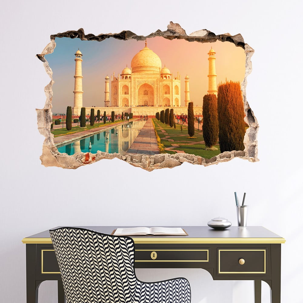 3D samolepka na zeď Ambiance Taj Mahal