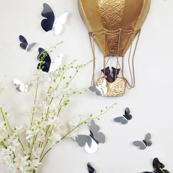 Trojrozměrné samolepky motýlků, zrcadlo