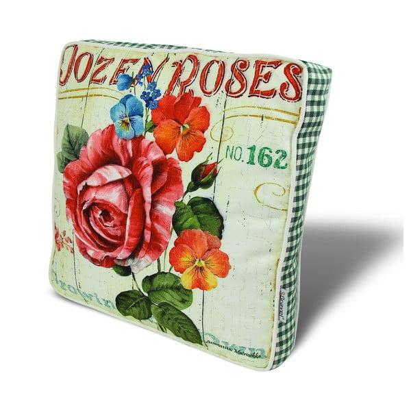 Podsedák s výplní Roses, 42x42 cm