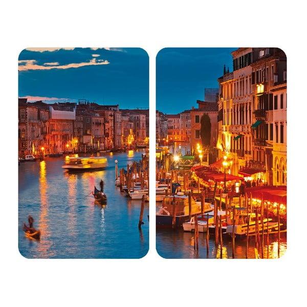 Skleněný kryt na sporák Venice, 2 ks