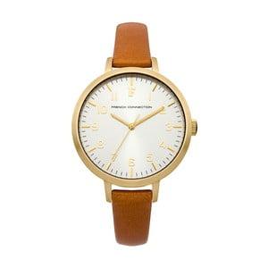 Hnědo-zlaté dámské hodinky French Connection Avril