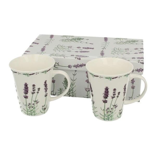 Set 2 porcelánových hrnků Duo Gift Lavender