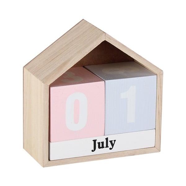 Dřevěný retro kalendář Maiko House