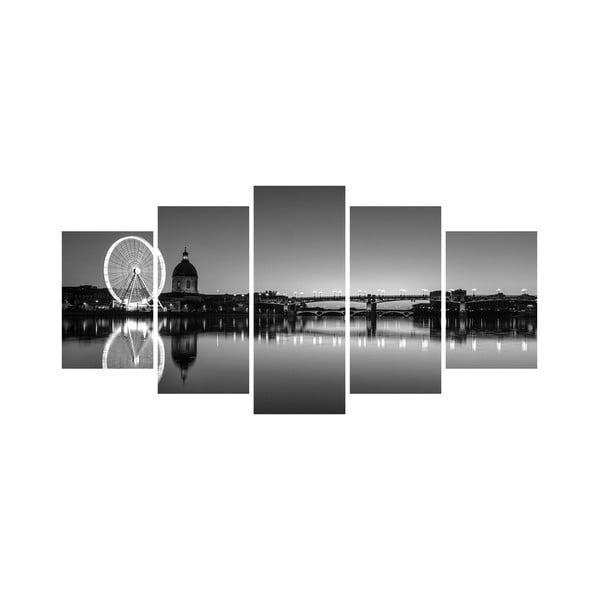 Vícedílný obraz Black&White no. 70, 100x50 cm
