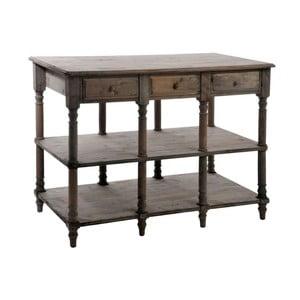 Stůl se zásuvkami Natural, 131x70x95 cm