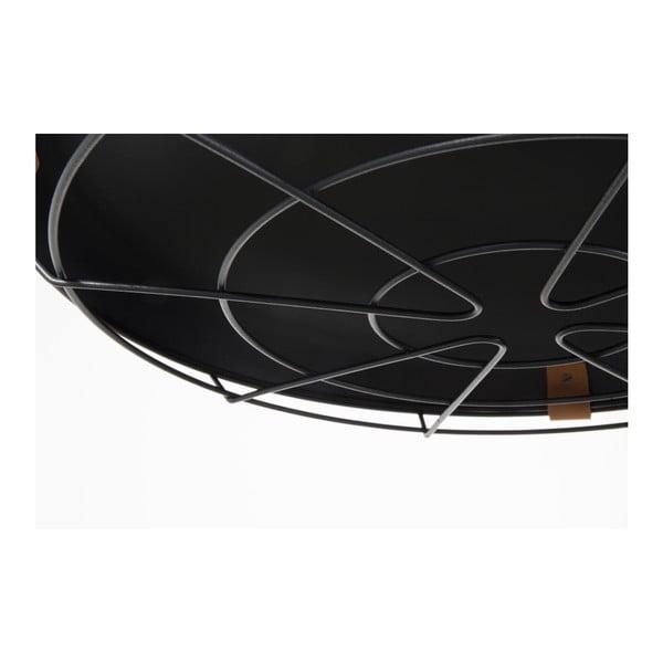 Tmavě šedé stropní svítidlo Zuiver Dek, Ø51cm