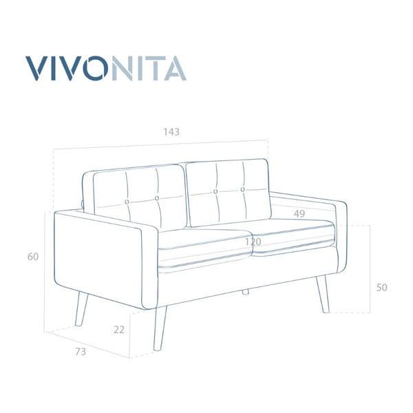 Hořčicově žlutá dvojmístná pohovka Vivonita Ina Trend