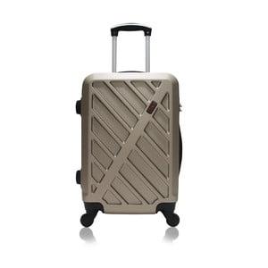 Světle hnědý kufr na kolečkách Hero Lock, 36 l