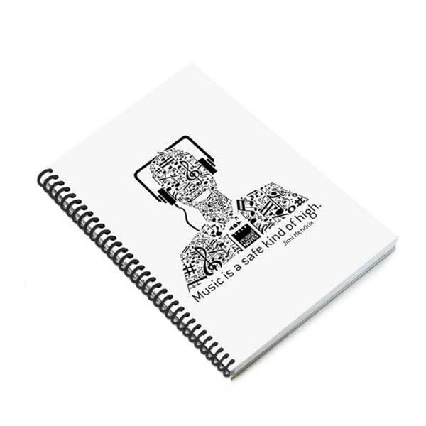 Notes A5 Makenotes Music, 100 stron