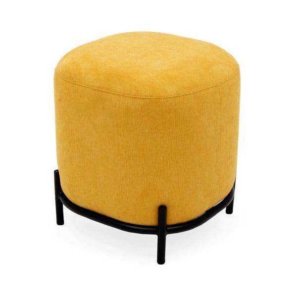 Żółty puf Tenzo Harry, ø 42 cm