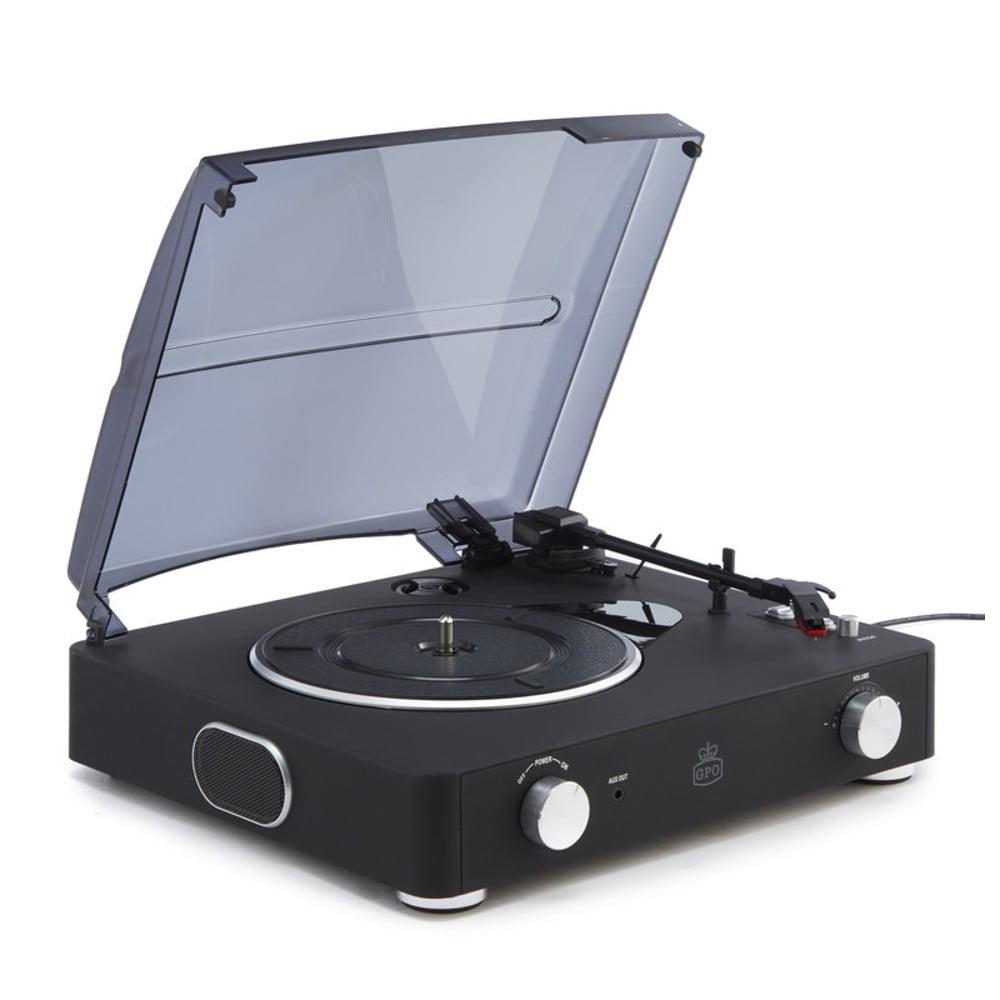 Černý gramofon GPO Stylo II Black