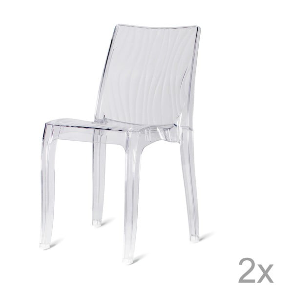 Sada 2 plastových židlí  Onda