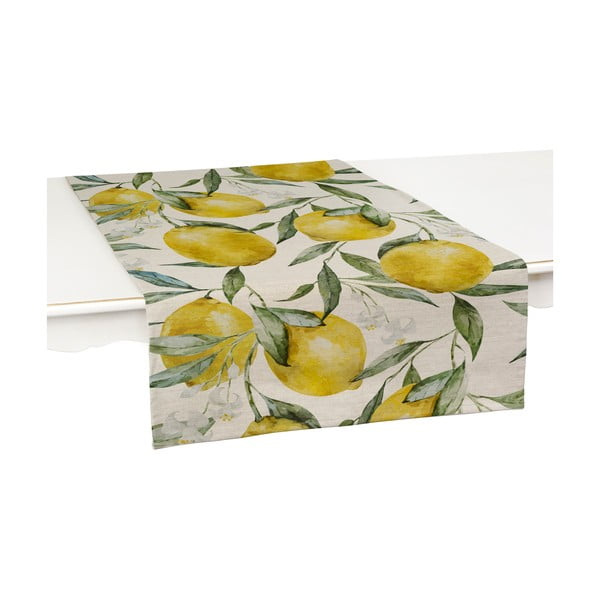 Sada 2 běhounů na stůl Linen Couture Lemons