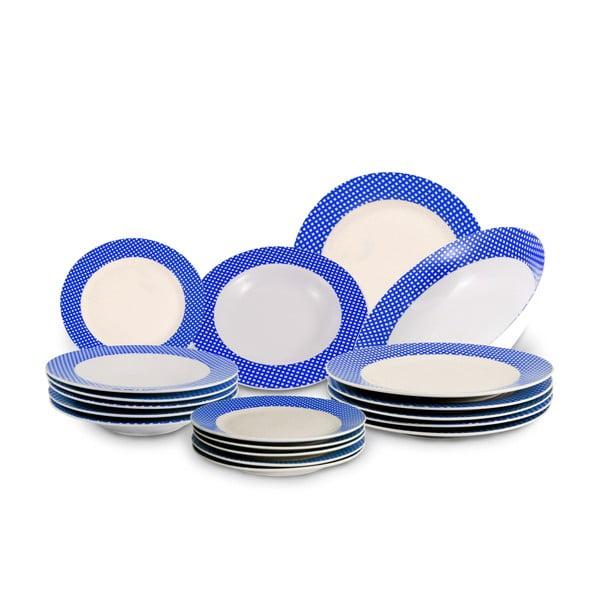 19dílná sada talířů Vajilla Azul