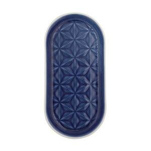 Tavă din ceramică Green Gate Kallia, albastru închis