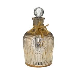 Skleněná dekorativní láhev se zátkou ve zlaté barvě InArt, ⌀12cm