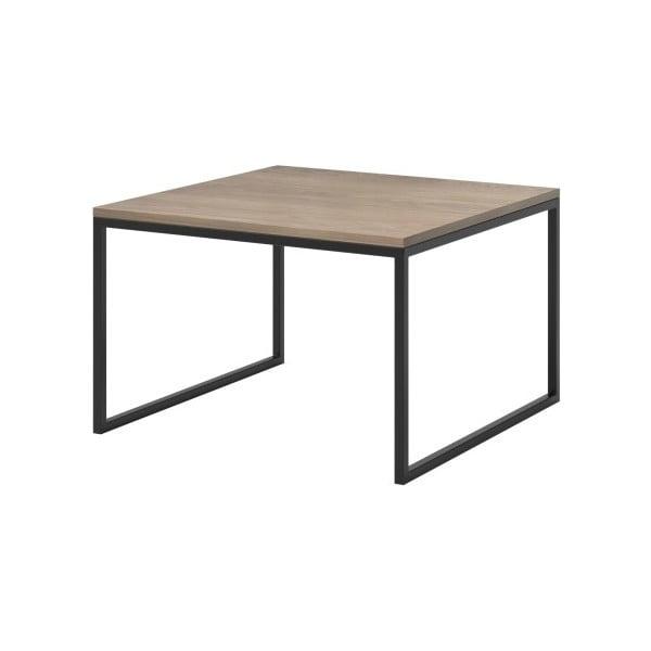 Béžový konferenční stolek s černými nohami MESONICA Eco, 70 x 45 cm