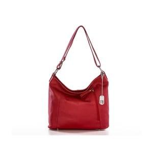 Červená kabelka z pravé kůže Federica Bassi Frio