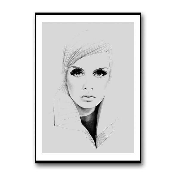 Autorský plakát Twiggy in Grey, 30x40 cm