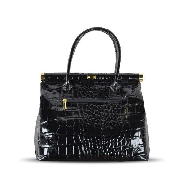 Kožená kabelka Justine, černá