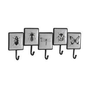 Sada 2 nástěnných kovových věšáků s 5 háčky Geese Bugs