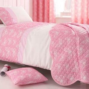 Sada přehozu přes postel a povlaku na polštář Delicate Butterfly
