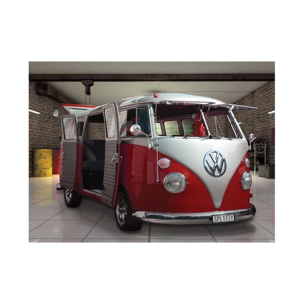 Velkoformátová tapeta Červený VW, 315x232 cm
