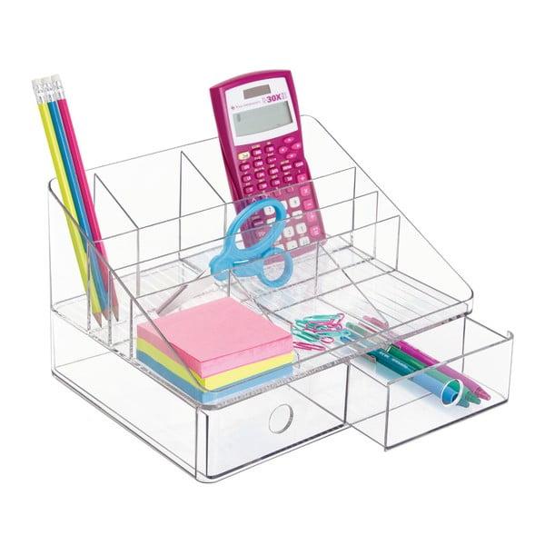 Organizér s šuplíčky InterDesign Linus Transparent, 26x20cm
