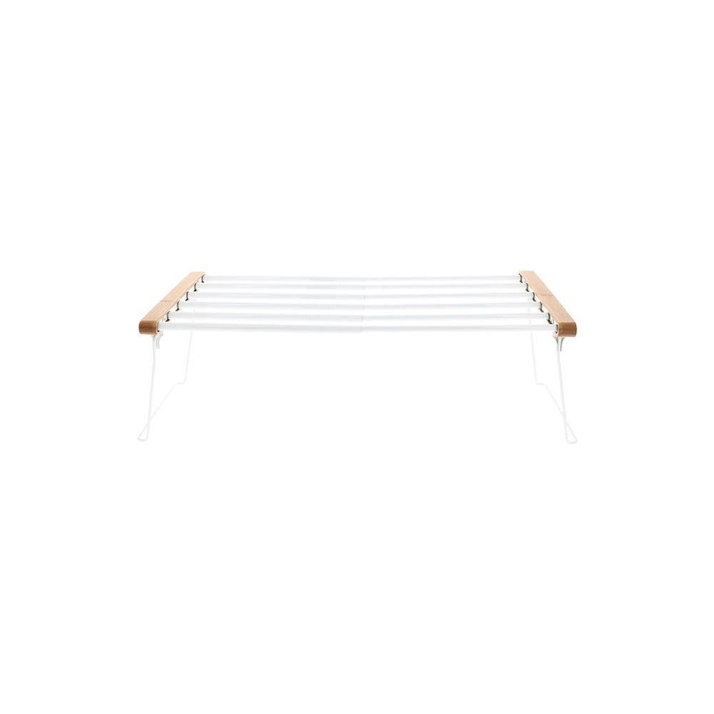 Bílá nastavitelná polička do skříně na oblečení Compactor Extandable Shelf Rack