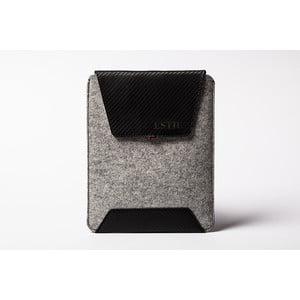 Kapsa na iPad z pravé kůže Éstie, světle šedé