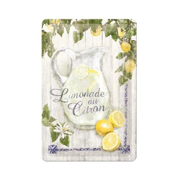 Plechová cedule Limonade, 20x30 cm