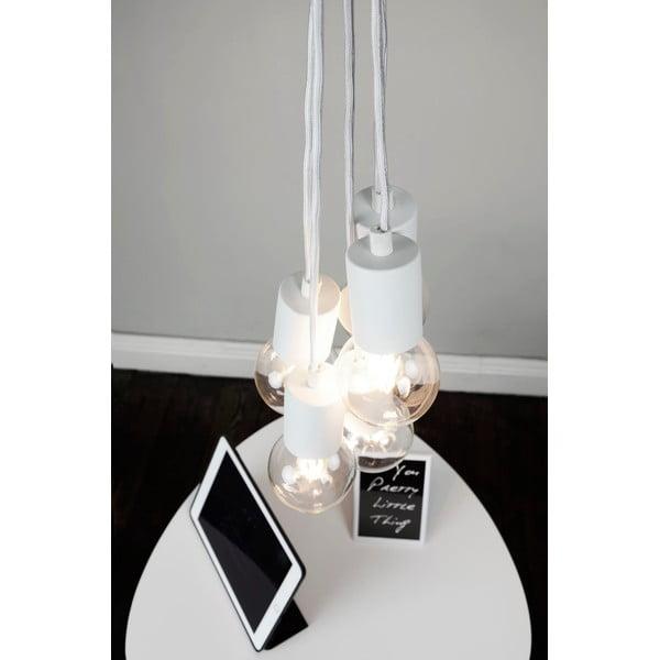 Bílé závěsné svítidlo s 5 kabely Bulb Attack Cero Group