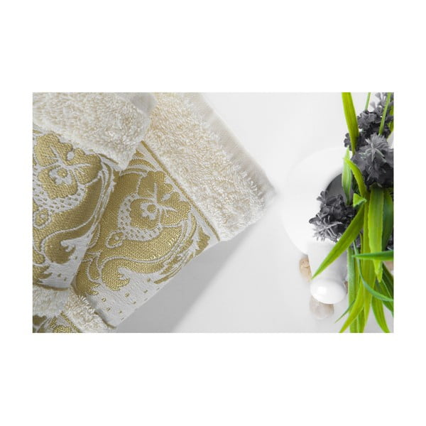 Set dvou ručníků Antik Gold Cream, 70x140 a 50x90 cm