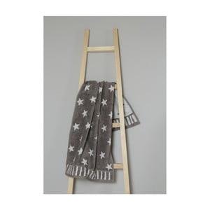 Hnědý bavlněný ručník My Home Plus Stars, 50 x 90 cm