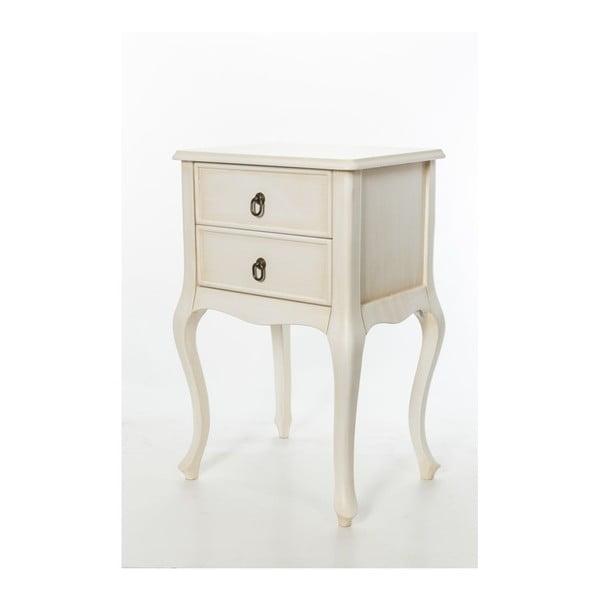 Odkládací stolek Cream Vintage, 46x33x70 cm