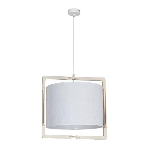 Bílé stropní svítidlo s dřevěnými detaily Glimte Loki White Uno